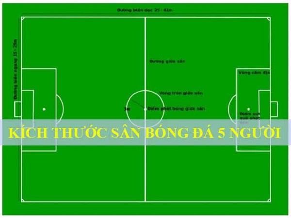Kích thước sân bóng đá 5 người theo tiêu chuẩn FIFA